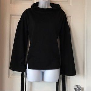 J.O.A. Structured High Neck Sweatshirt Jacket